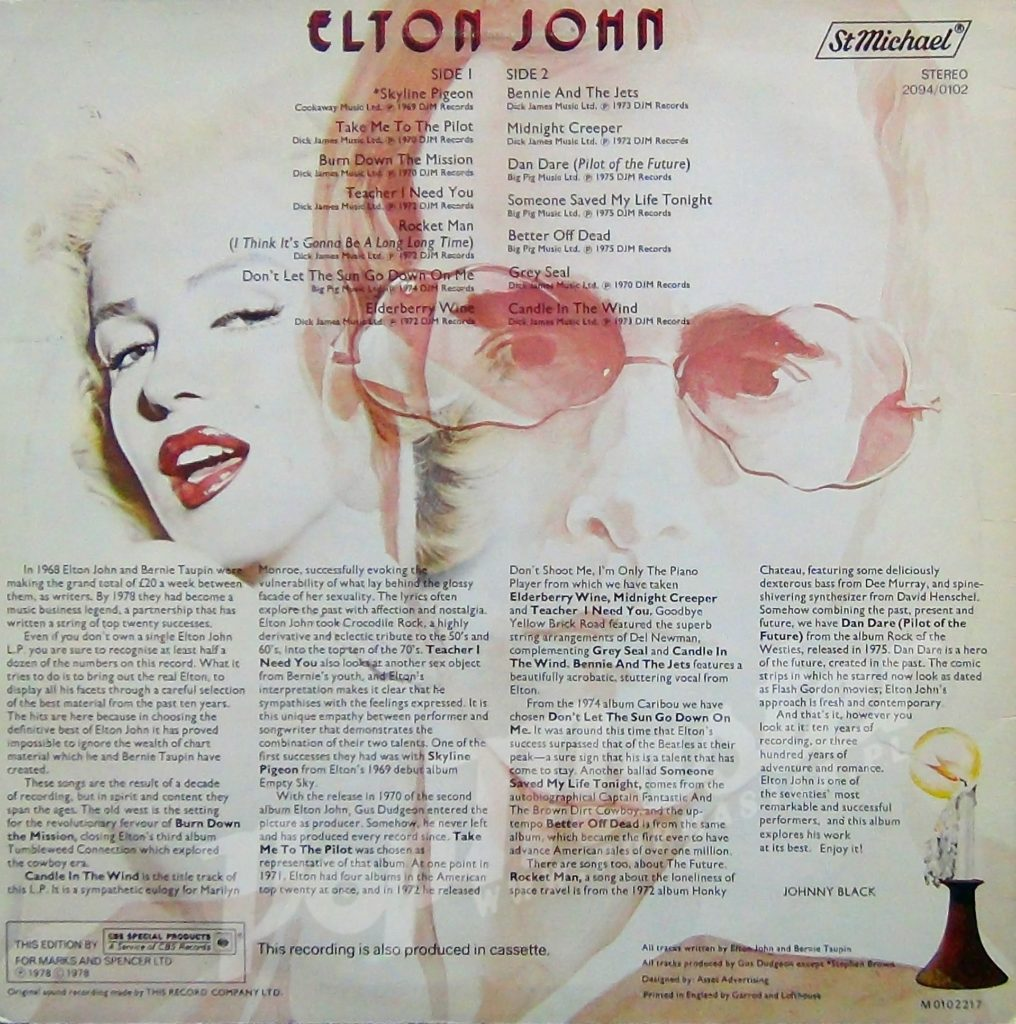 История одной песни: Elton John – Candle In The Wind. Автор текста Берни Топин прямо утверждает, что ее героиня именно Мэрилин Монро.