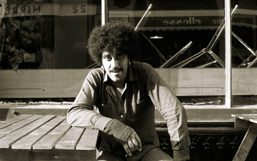 Remembering Phil Lynott ahead of his 65th Birthday. Irish Rock Singer with Thin Lizzy Phil Lynott in Dublin. 1984 Pic Photocall Ireland