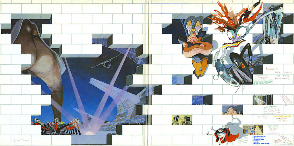 Inside the gatefold sleeve of The Wall (1979). Source: Pink Floyd Archive