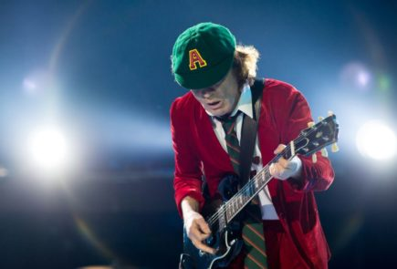 AC/DC's Angus Young (Image: © Pedro Gomes, Redferns. Source: loudersound.com)