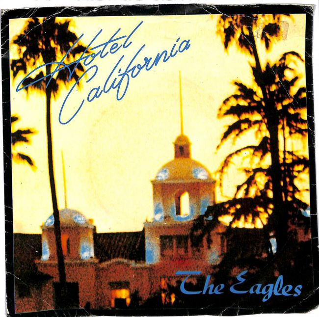"Hotel California 7"" single"